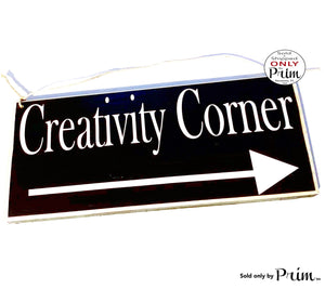 12x6 Custom Creative Corner Arrow Front Door Custom Wood Sign Meditation Artist Designer Workshop Business Deliveries Leave Packages Plaque