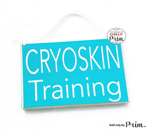 8x6 Cryoskin Training Custom Wood Sign In Session Please Do Not Disturb Progress Thermal Toning Therapy Wellness Orientation Door Plaque