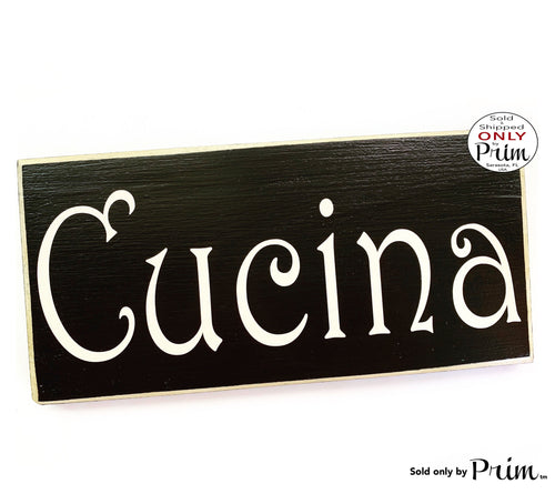 12x6 CUCINA Italian Kitchen Custom Wood Sign Mangia Cook Family Dining Eat Dining Chef Italian Mom Wall Door Plaque