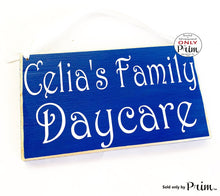Load image into Gallery viewer, 10x6 Daycare Childcare Name Custom Wood Sign Custom Wood Sign Personalized Nursery Day Care Child Business Plaque