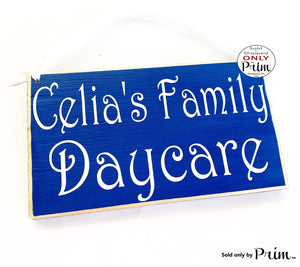 10x6 Daycare Childcare Name Custom Wood Sign Custom Wood Sign Personalized Nursery Day Care Child Business Plaque