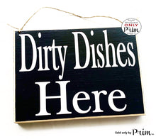 Load image into Gallery viewer, 10x8 Dirty Dished Custom Wood Sign | Order Here Pick Up Around the Corner Restaurant Cafe Coffee House Kitchen Counter Cashier Wall Plaque