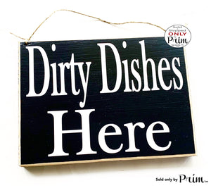 10x8 Dirty Dished Custom Wood Sign | Order Here Pick Up Around the Corner Restaurant Cafe Coffee House Kitchen Counter Cashier Wall Plaque
