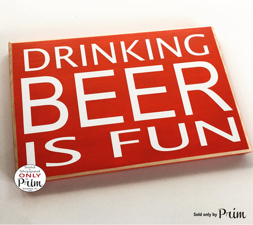 Drinking Beer Happy Hour 10x8 Custom Wood Sign Party Man Cave Beer Wine Funny