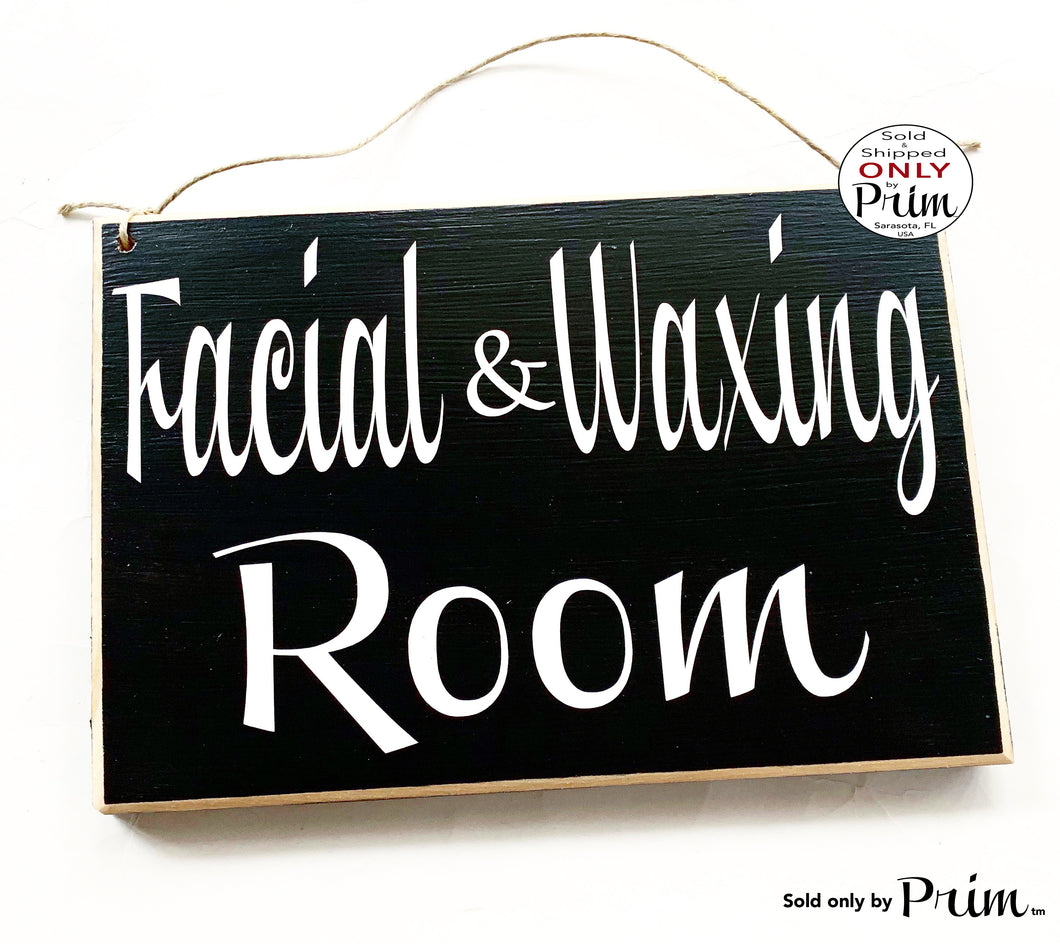 10x8 Facial & Waxing Room Custom Wood Sign Spa In Session Please Do Not Disturb Welcome Treatment Relaxation Eyebrow Lashes Door Plaque