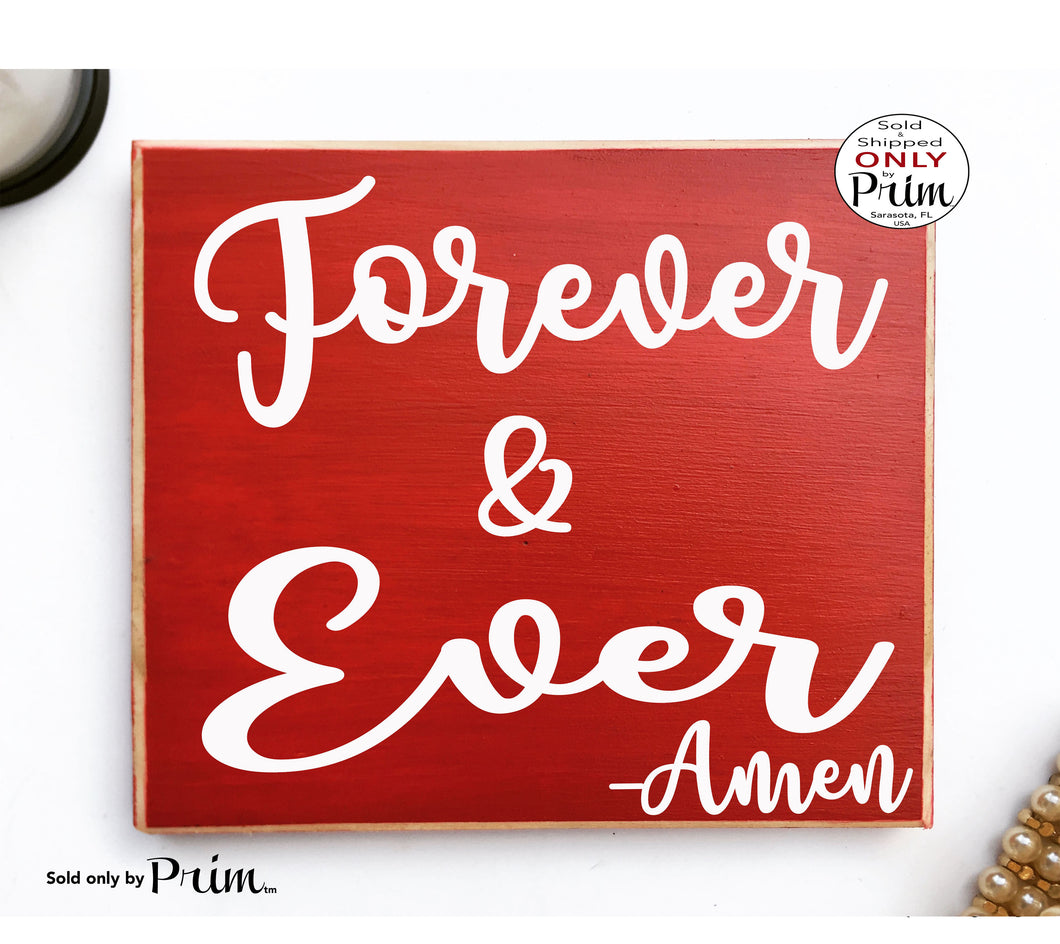 Forever and Always Amen Custom Wood Sign Welcome to Family Wedding Home Sweet Home Love Children Happiness We Live Here Plaque