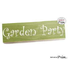 Load image into Gallery viewer, 12x4 Garden Party Custom Wood Sign Welcome to Our Porch Patio Lanai Home Simple Living Wall Door Plaque