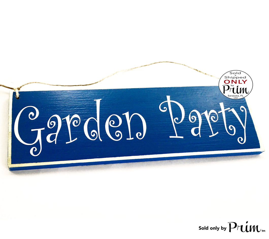 12x4 Garden Party Custom Wood Sign Welcome to Our Porch Patio Lanai Home Simple Living Wall Door Plaque