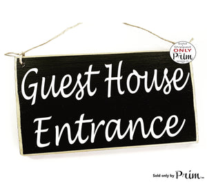 10x6 Guest House Entrance (Choose Color) Custom Wood Sign Welcome Suite Cottage Bed and Breakfast AirBnb