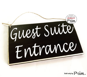 10x6 Guest Suite Entrance (Choose Color) Custom Wood Sign Welcome Suite Cottage Bed and Breakfast Bnb Lodging Resort