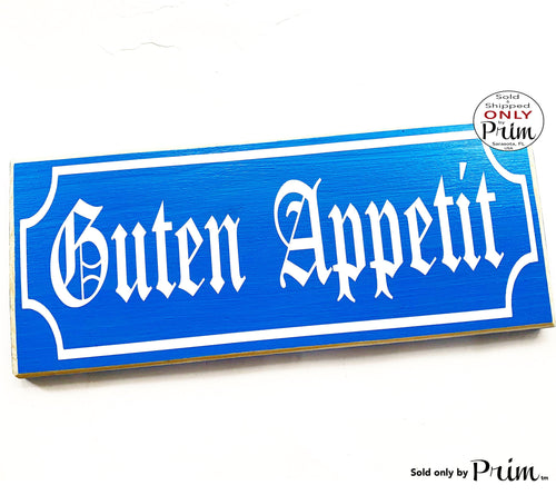 14x6 German Guten Appetit Custom Wood Sign Good Appetite Dining Room Kitchen Food Essen Eat Biergarten Oktoberfest Bavarian Style Wall Decor