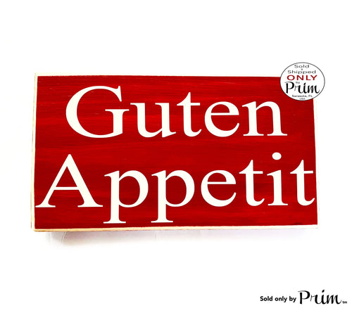 10x6 German Guten Appetit Custom Wood Sign Dining Kitchen Kuche Willkommen Biergarten Deutschland Oktoberfest Dinner Wall Door Plaque