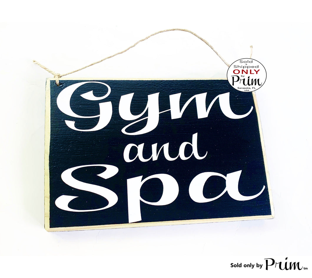 Gym and Spa Custom Wood Sign 8x6 Room Service Salon Massage Facial Business In Session In Progress Please Do Not Disturb Fitness Club