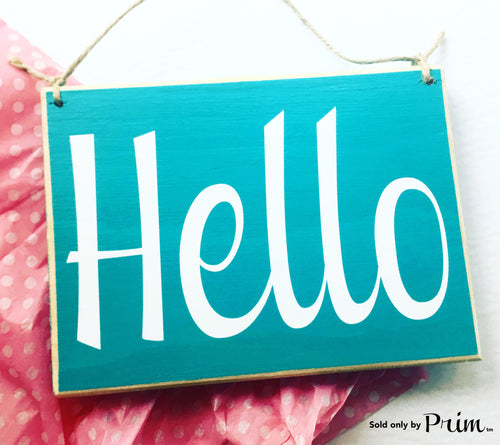 8x6 Hello Custom Wood Sign Welcome Home Sweet Home Greetings Come On In Open Front Door Plaque