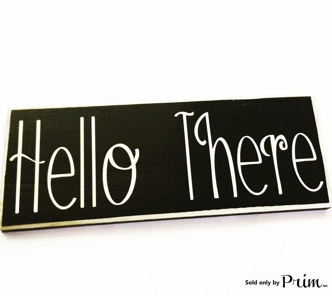 12X4 Hello There Custom Wood Sign Welcome Home Sweet Home Door Plaque