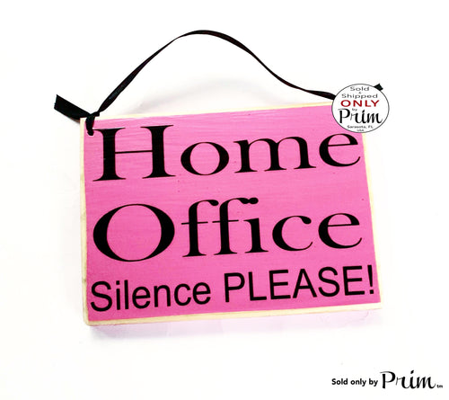 8x6 Home Office Silence Please Custom Wood Sign | Working Busy In A Meeting Session In Progress Door Plaque | Working Please Do Not Disturb