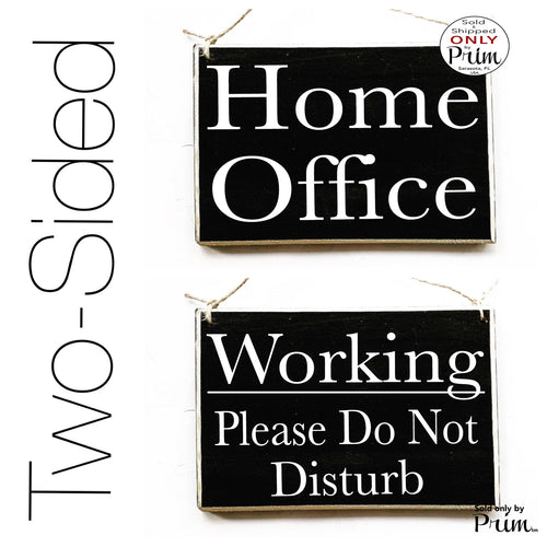 8x6 Home Office Working Please Do Not Disturb Custom Wood Sign | Busy In A Meeting Session In Progress Door Plaque | Mommy Daddy Working