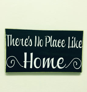12x6 There's No Place Like Home Wood Welcome Sign