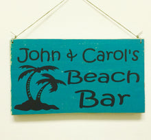 Load image into Gallery viewer, 10x6 Custom Beach Family Name Wooden Add Name Sign