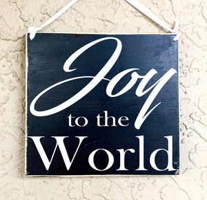 8x8 Joy to the World Wood Sign