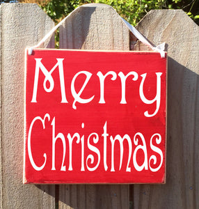8x8 Merry Christmas Wood Sign
