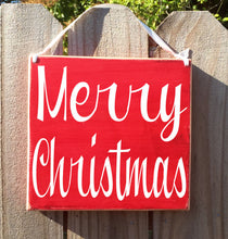 Load image into Gallery viewer, 8x8 Merry Christmas Wood Sign