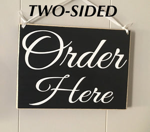 8x6 Order Here Double-Sided Wood Sign