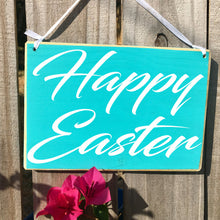 Load image into Gallery viewer, 8x6 Happy Easter Wood Sign