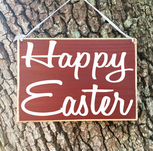 8x6 Happy Easter Wood Sign