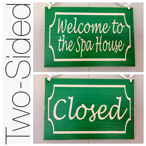 8x6 Custom Spa /  Closed Wood Business Sign