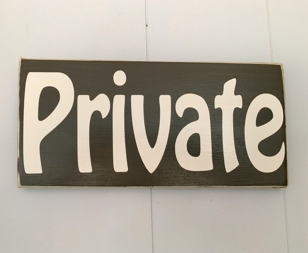 12x6 PRIVATE Wood Business Do Not Enter Sign
