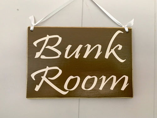 8x6 Bunk Room Wood Kids Children Cottage Cabin Airbnb Sign