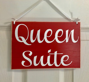 8x6 Queen Suite Wood Sign