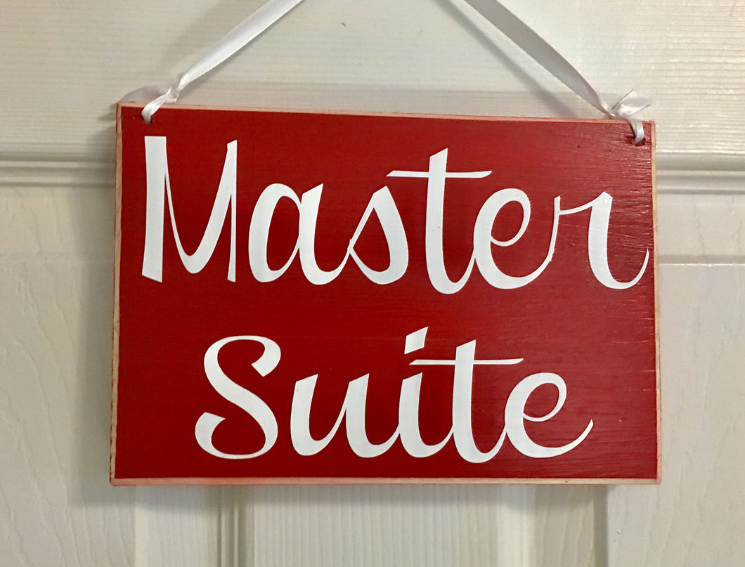 8x6 Master Suite Wood Sign