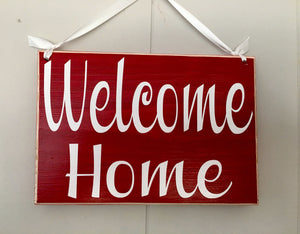 8x6 Welcome Home Wood Sign