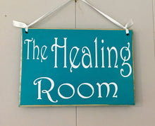 Load image into Gallery viewer, 8x6 Healing Room Custom Wood Sign In Progress Session Do Not Disturb Spa Salon Yoga Welcome Office