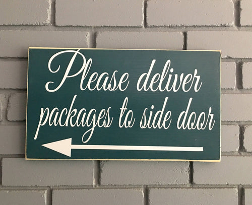 14x8 Delivery Custom Personalized Wood Packages Business Sign