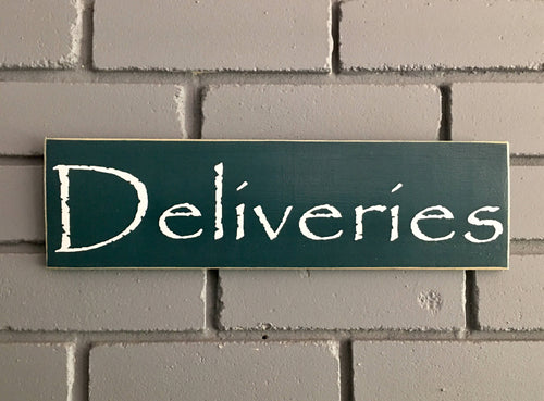 14x4 Deliveries Custom Wood Packages Business Sign