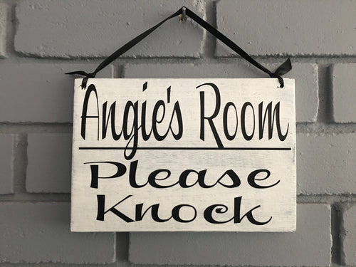 8x6 Personalized Please Knock Wood Sign