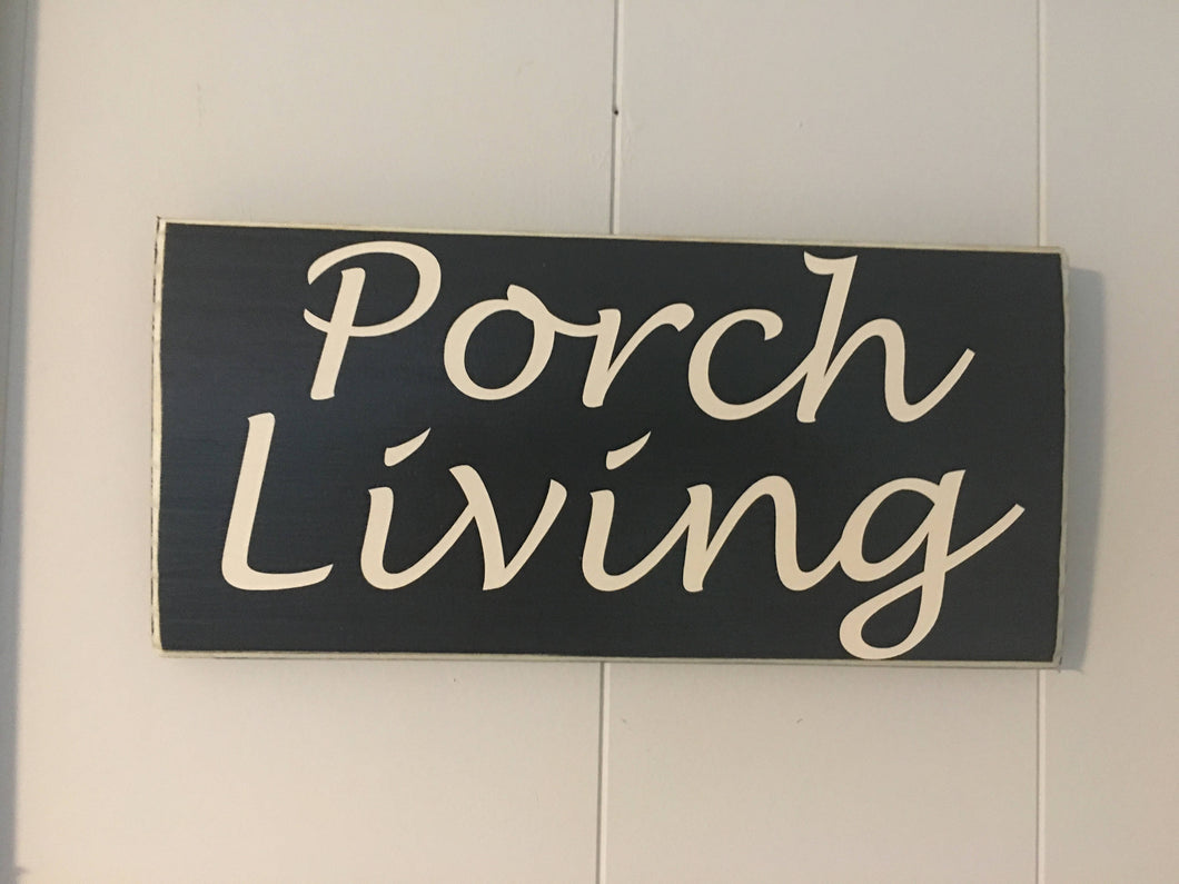 12x6 Porch Living Wood Welcome Sign