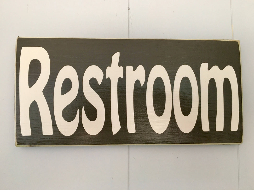 12x6 Restroom Wood Bathroom Business Sign