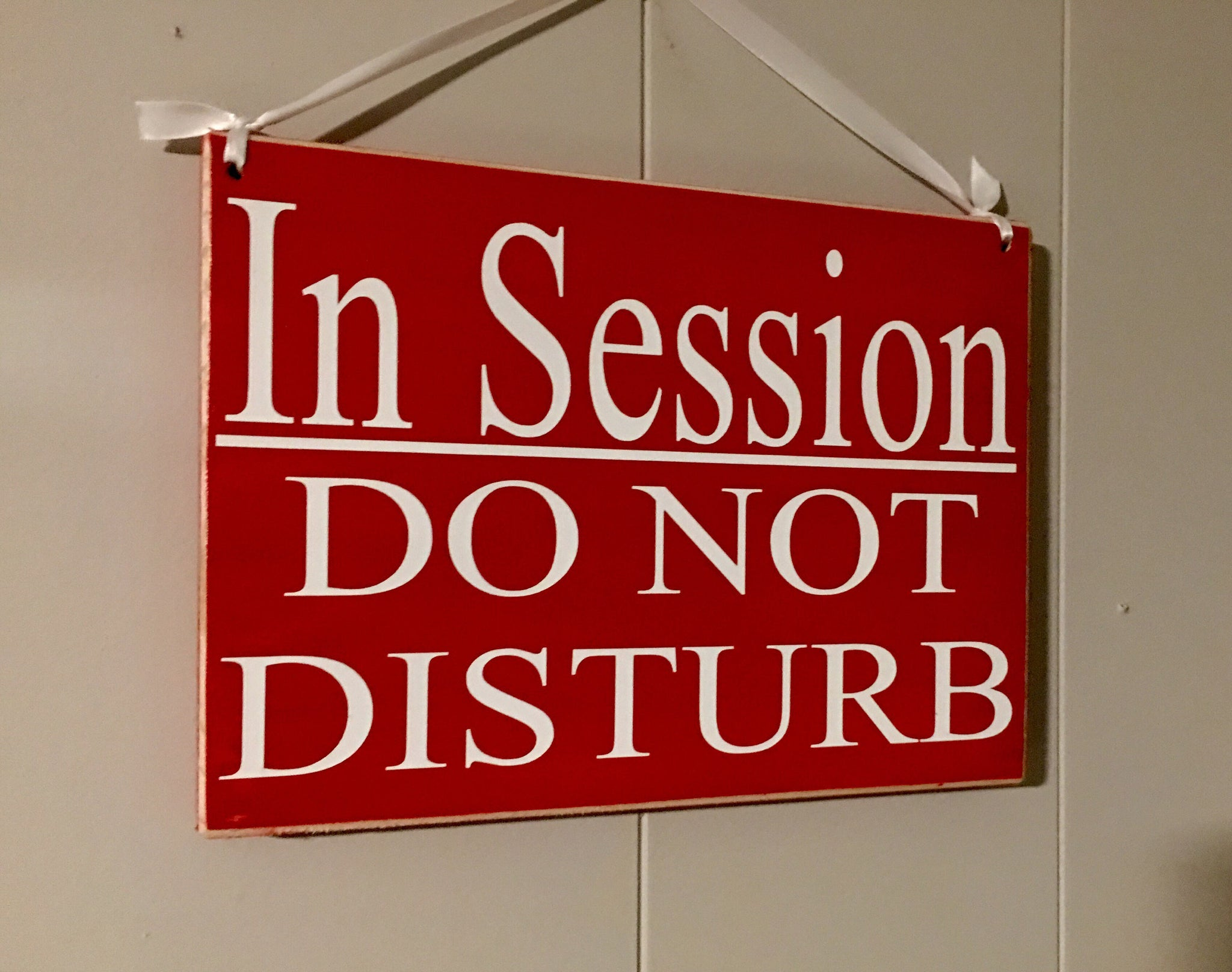 10x8 in session do not disturb wood business spa sign designs by prim