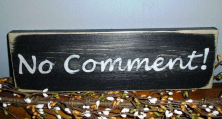 12x4 No Comment Wood Funny Sign