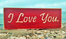 Load image into Gallery viewer, I Love You Custom Wood Wedding Anniversary Sign