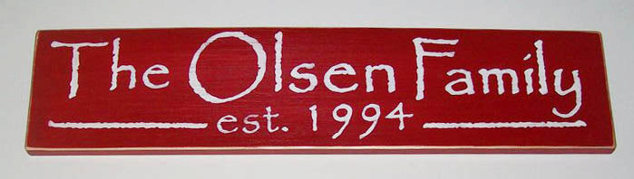 24x6 Custom Name Date Wood Established Wedding Anniversary Sign