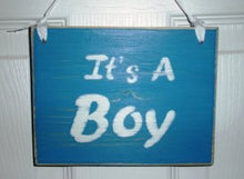Load image into Gallery viewer, 8x6 It's a Boy Wood Sign