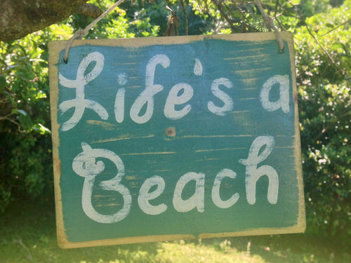 8x6 Life's A Beach Wood Sign