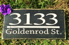 Load image into Gallery viewer, 12x6 Custom Address Wood Home Personalized Sign