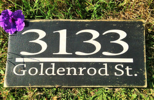 12x6 Custom Address Wood Home Personalized Sign