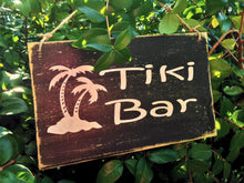 Load image into Gallery viewer, 8x6 Tiki Bar Wood Sign